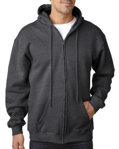 Charcoal Hthr Adult 9.5 oz. 80/20 Full Zip Hooded Sweatshirt