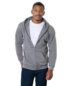 Charcoal Adult Full Zip Hooded Sweatshirt
