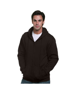 Black Adult Full Zip Hooded Sweatshirt