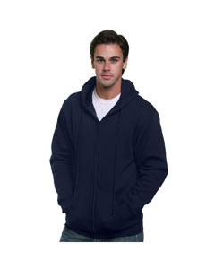 Navy Adult Full Zip Hooded Sweatshirt