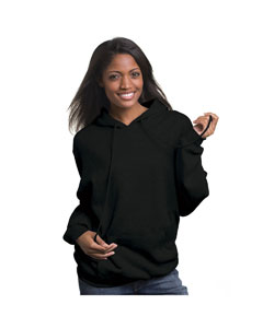Black Adult 9.5 oz. 80/20 Pullover Hooded Sweatshirt
