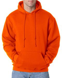 Bright Orange Adult 9.5 oz. 80/20 Pullover Hooded Sweatshirt