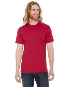 Red Unisex Poly-Cotton Short-Sleeve Crewneck