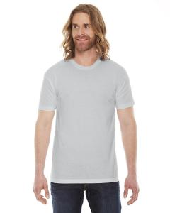 New Silver Unisex Poly-Cotton Short-Sleeve Crewneck