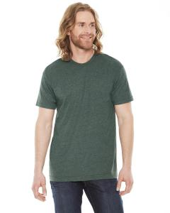 Heather Forest Unisex Poly-Cotton Short-Sleeve Crewneck