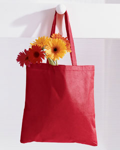 Red 8 oz. Canvas Tote