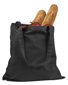 Black 6 oz. Canvas Promo Tote