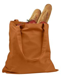 Orange 6 oz. Canvas Promo Tote