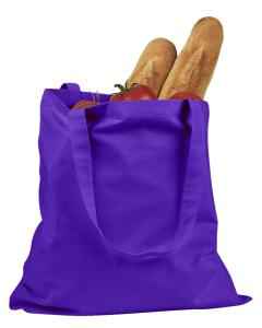 Purple 6 oz. Canvas Promo Tote