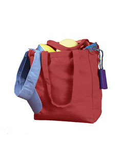 Red 12 oz. Canvas Book Tote