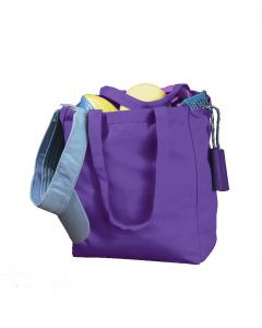 Purple 12 oz. Canvas Book Tote