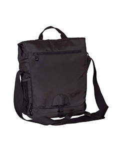 Black Vertical Messenger Tech Bag