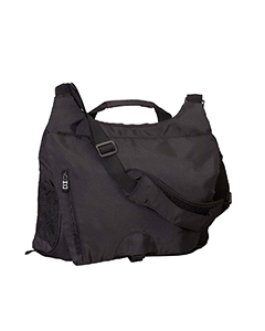 Black Unisex Messenger Tech Bag