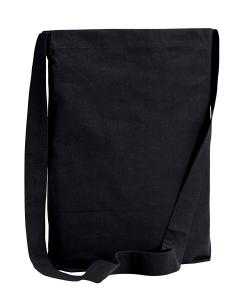 Black 6 oz. Canvas Sling Tote