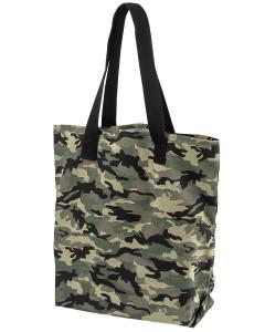 Forest Camo 12 oz. Canvas Print Tote