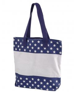 Stars 12 oz. Canvas Print Tote
