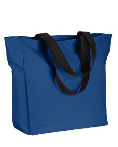 Royal Polyester Zip Tote
