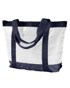 White/ Navy All-Weather Tote