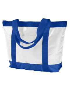 White/ Royal All-Weather Tote