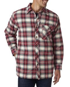 Independent Men's Flannel Shirt Jacket with Quilt Lining