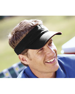 Black/red Washed Twill Sandwich Visor