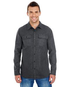 Charcoal Men's Solid Flannel Shirt