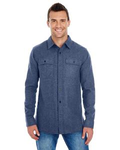 Denim Men's Solid Flannel Shirt