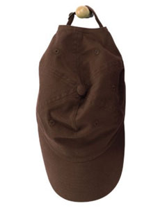Coffee 6-Panel Brushed Twill Unstructured Cap