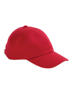 Red Youth 6-Panel Brushed Twill Unstructured Cap