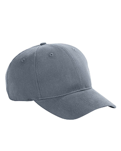 Steel Grey 6-Panel Brushed Twill Structured Cap