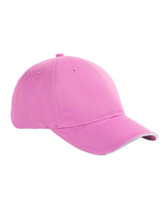 Pink/white 6-Panel Twill Sandwich Baseball Cap