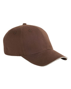 Coffee/stone 6-Panel Twill Sandwich Baseball Cap