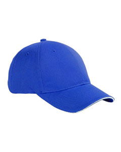 Royal/white 6-Panel Twill Sandwich Baseball Cap