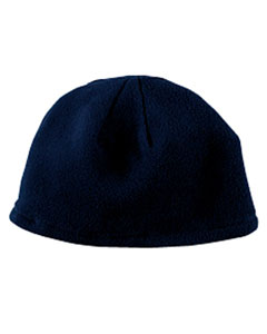 Navy Knit Fleece Beanie