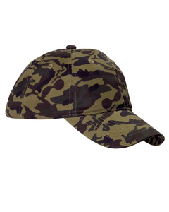 Green Camo Unstructured Camo Hat