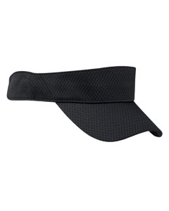 Black Sport Visor with Mesh