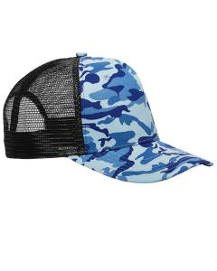 Water Camo/ Blk Surfer Trucker Cap