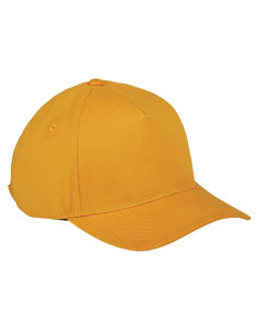 Gold 5-Panel Brushed Twill Cap