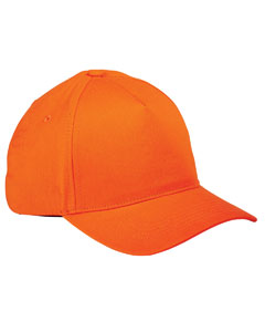 Orange 5-Panel Brushed Twill Cap