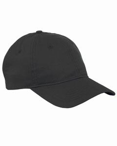 Black 6-Panel Twill Unstructured Cap