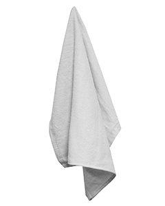 White Large Rally Towel with Grommet and Hook