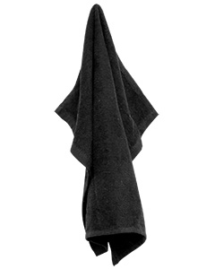 Black Large Rally Towel with Grommet and Hook