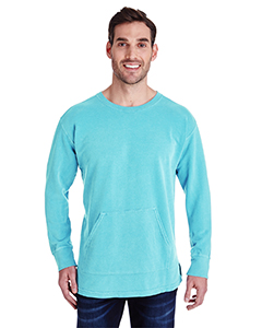 Lagoon Blue Adult French Terry Crew With Pocket