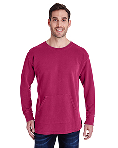 Crimson Adult French Terry Crew With Pocket