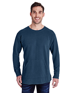 True Navy Adult French Terry Crew With Pocket