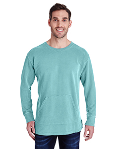 Chalky Mint Adult French Terry Crew With Pocket