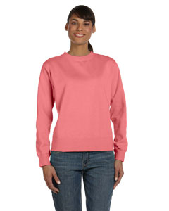 Watermelon Women's 10 oz. Garment-Dyed Wide-Band Fleece Crew