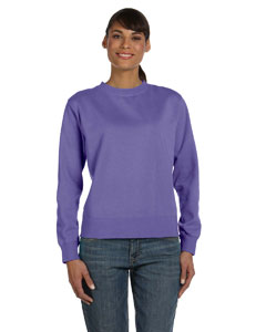 Violet Women's 10 oz. Garment-Dyed Wide-Band Fleece Crew