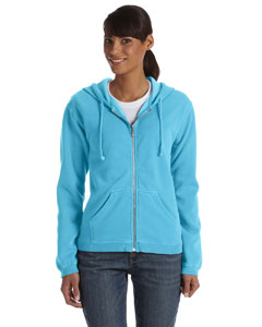 Lagoon Blue Women's 10 oz. Garment-Dyed Full-Zip Hood