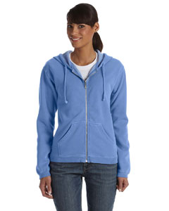 Flo Blue Ladies' Full-Zip Hooded Sweatshirt